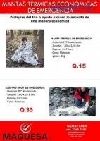 TENEMOS MANTAS TERMICAS ECONOMICAS DE EMERGENCIA