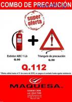 OFERTA DE EXTINTOR DE 1 LBS+ TRIANGULO DE PRECAUCION
