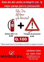 OFERTA DE EXTINTOR DE 1 LBS+ TRIANGULO DE PRECAUCION!!!