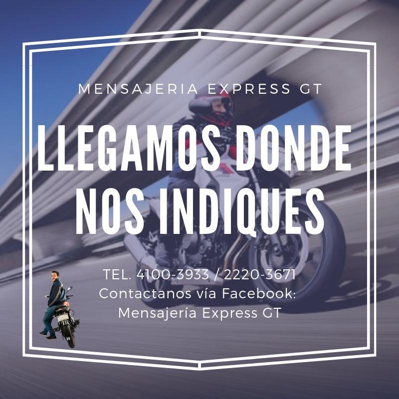 MENSAJERIA RAPIDA, CONFIABLE Y SEGURA
