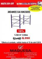 GRAN OFERTA EN ANDAMIOS GALVANIZADOS EN OFERTA!!!