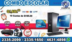 fd3e30d8ffa 2 COMPUTADORAS DELL+MUEBLE+IMPRESORA+BOCINAS+WIFI