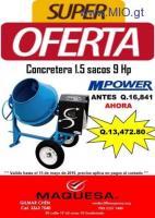OFERTA DE CONCRETERA CON MOTOR DE 9HP CON EL 20% DE DESCUENTO