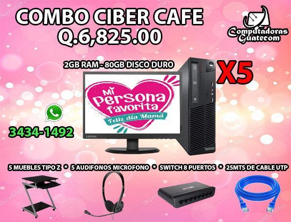COMBO DE COMPUTADORAS INICIA TU NEGOCIO COMBO DE 5 PC