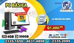COMPUTADORAS BÁSICAS CORE2DUO/04GB RAM/500HD/LCD 19 PULGADAS/ A TAN SOLO Q 1,490.00