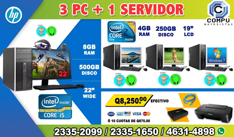 COMBO EMPRENDEDOR 3+COMPUTADORAS DELL+ 01 COMPUTADORA HP