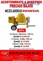 GRAN OFERTA DE CONCRETERA DE 1.5 SACOS CON MOTOR HONDA DE 5.5 HP