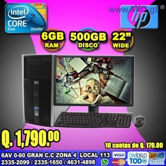 COMPUTADORAS HP COMPLETAS CON MONITOR DE 22P