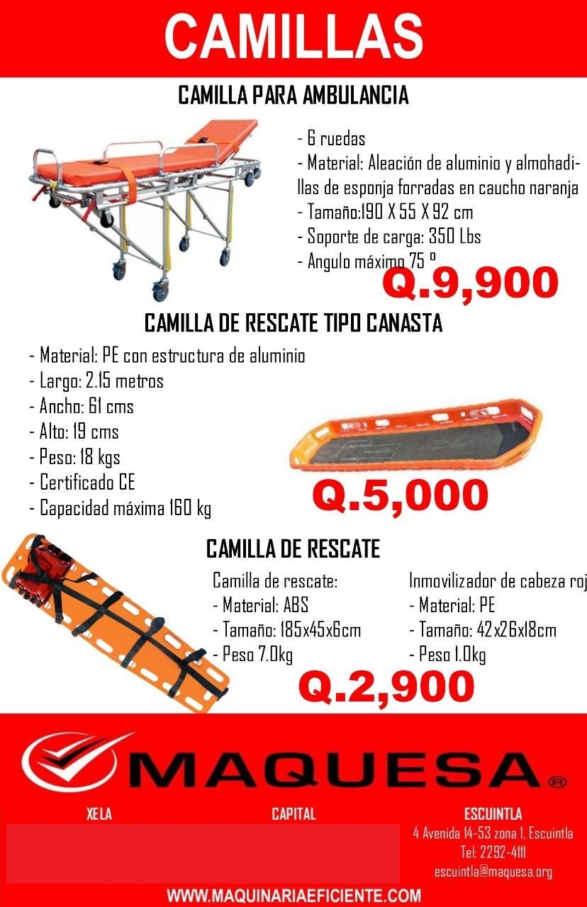 CAMILLLAS DE RESCATE