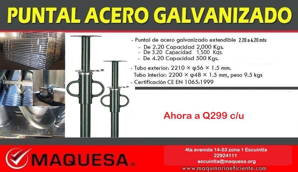 Puntales de acero Galvanizados certificados