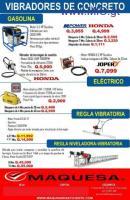 Vibradores de concreto de Gasolina o eléctricos
