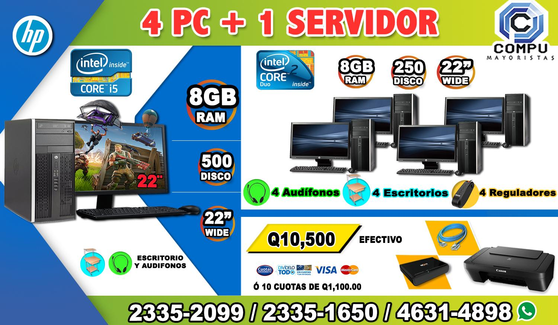 COMBOS DE 05 COMPUTADORAS HP
