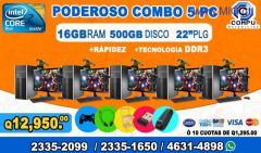COMBOS COMPLETOS DE 05 COMPUTADORAS HP