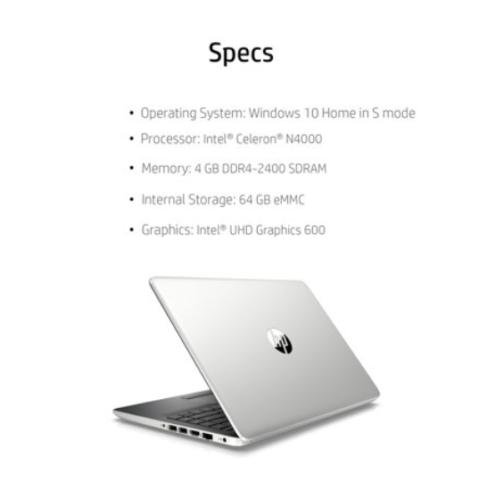 HP 14  HD Laptop