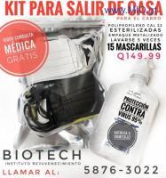 Kit mascarillas + gel + vídeo consulta médica