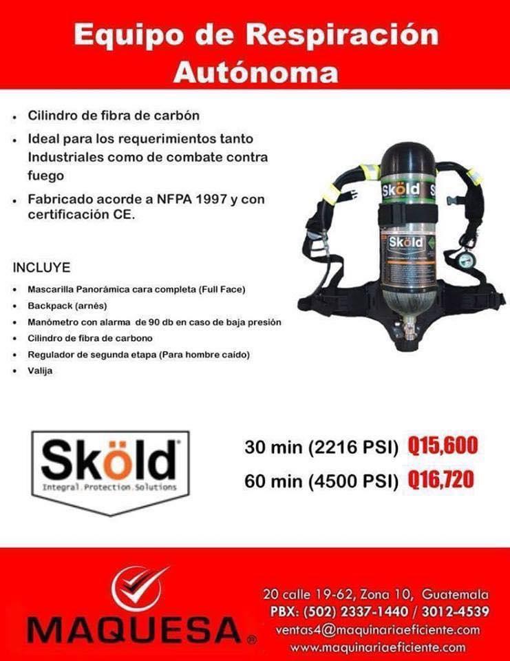 Equipo de respiración autónoma